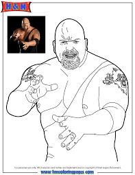 wwe superstar rock coloring u0026 coloring pages