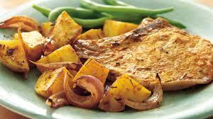roasted rosemary pork chops and potatoes recipe bettycrocker com