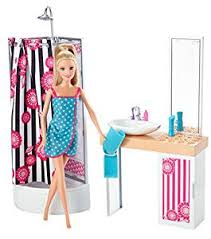 facebook themes barbie amazon com barbie doll and bathroom furniture set toys games
