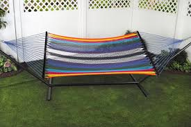 Bliss Hammock In A Bag Bliss 2 Person Classic Multi Color Cotton Hammock