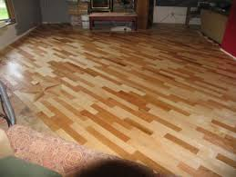 our scrap wood floor junkmarket style