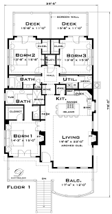 Key West Style Home Floor Plans House Plans For Homes Likewise Sheltered On 3 Bedroom Floor Plans
