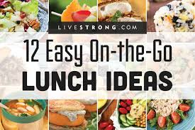 12 easy on the go lunch ideas livestrong com