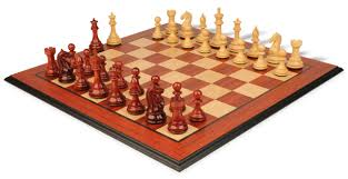 fierce knight staunton chess set in african padauk u0026 boxwood with