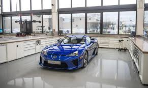 lexus lfa crash the lexus lfa gets serviced like a le mans car