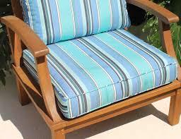 Chair Cushion Color Sale Sunbrella Fabric Pacific Chair Cushion Pad Oceanic Teak