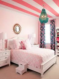 chic bedroom decor with pink stained wooden single bed master