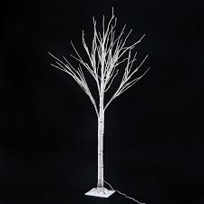 homcom 59 1 48 led light up indoor accent birch tree