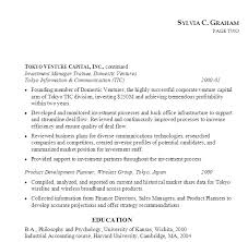 sample resume for bankers resume investment associate venture capital susan ireland resumes