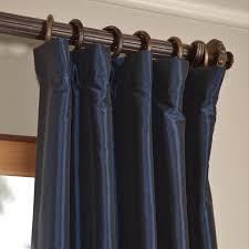 Teal Taffeta Curtains Navy Blue Blackout Faux Silk Taffeta Curtains Drapes