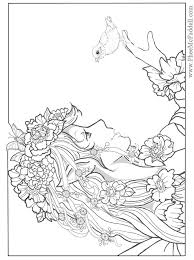 amusing mermaid coloring pages adults 224 coloring