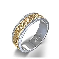celtic knot wedding bands tone celtic knot and milgrain wedding ring in two tone 14k white
