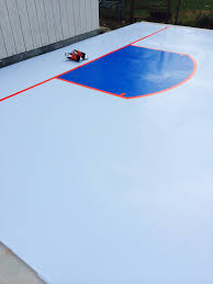 the smartrink synthetic ice goal crease backyard synthetic ice