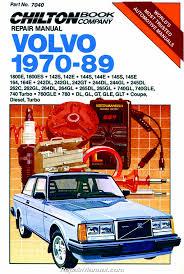 chilton volvo 1970 1989 repair manual