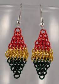 reggae earrings jamaica rasta irie earrings marley reggae earrings rastafari