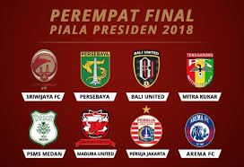 Jadwal Piala Presiden 2018 Siaran Langsung Pertandingan Babak 8 Besar Piala Presiden 2018