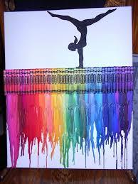 Gymnastics Room Decor 30 Cool Melted Crayon Art Ideas Hative
