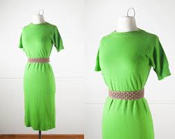 lime green dress etsy