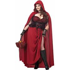 Motorcycle Rider Halloween Costume Dark Red Riding Hood Size Women U0027s Halloween Costume