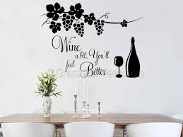 Wall Stickers For Kitchen by Cook With Wine Kitchen Wall Sticker Tried Cooking With Wine