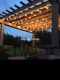 patio string lights garden decking ideas gazebo pergola string lights best 25 lighting