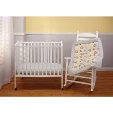 Porta Crib Mattress Size Baby Cribs Country Geometric Rail Guard Cover Aviator Cotton