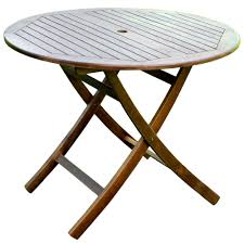 round wooden folding table 38 inch round wooden folding table with curved legs in patio dining