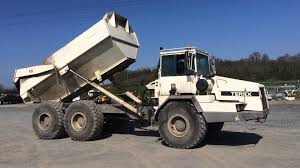 terex ta27 25 ton 6x6 articulated dump truck youtube