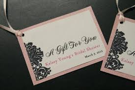 bridal shower favor tags wedding favor tag wording lyfy me