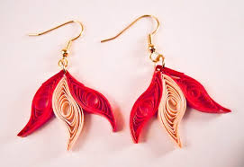 paper ear rings paper earring easy method design paper quilling earrings