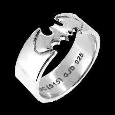 Batman Wedding Ring by Dc Comics Batman Ring Size Q Zing Pop Culture