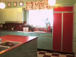Painted Metal Kitchen Cabinets Nancy U0027s Metal Kitchen Cabinets Get A Fresh Coat Of Paint And