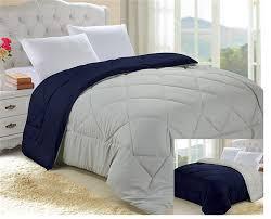 Twin Xl Grey Comforter Glacier Gray Nightfall Navy Reversible College Comforter Twin Xl