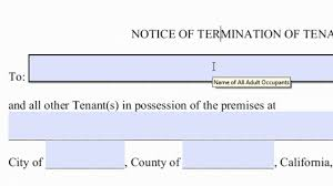 2017 30 day vacate notice letter sample texas lease termination