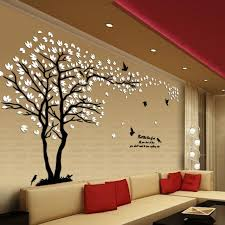 Living Room Wall Stickers | new arrival lovers tree crystal three dimensional wall stickers
