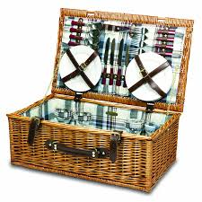 picnic gift basket picnic time newbury willow picnic basket with