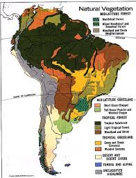 south america map rainforest worldregionsproject geography of central and south america