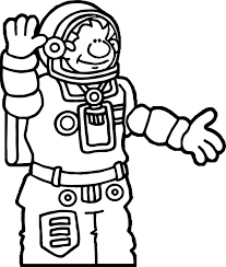 astronaut coloring wecoloringpage