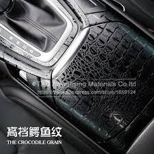 Vinyl Car Interior High Quality 3d Car Simulation Faux Crocodile Skin Leather Car