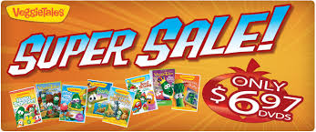 veggietales sale dvd 5 23 each saving dollars sense