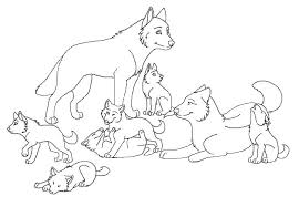 Pack Coloring Pages Wolf Pack Coloring Pages