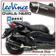 silencer exhaust sbk leovince nero black inox approved yamaha xmax