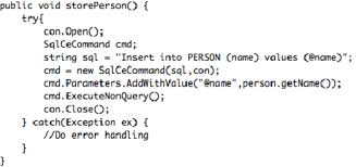 android context insert into database query in android context in java me figure