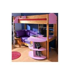 sofa bed desk stompa casa kids natural highsleeper bed in lilac with sofa bed