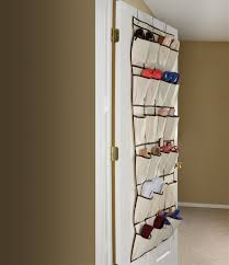 ybmhome 24 pocket fabric hanging over the closet rod shoe storage