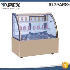 china commercial marble base cake display showcase refrigerator in