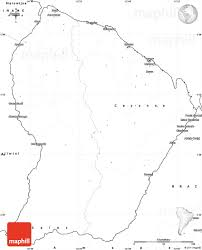 Africa Blank Map by Blank Simple Map Of French Guiana