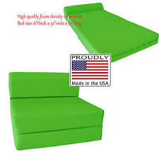 Sleeper Chair Folding Foam Bed Lime Sleeper Chair Folding Foam Beds 6 X 32 X 70 High Density