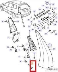 saab 9 3 sportcombi light repair kit right side 12774398