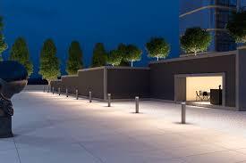 Luminaire Landscape Lighting Erco Castor Led Bollard Luminaire Provides Beam Options